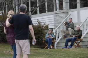 ASSOCIATED PRESS                                 Residents of Brookfield Road in Montclair, N.J., got together for a street happy hour toast today.