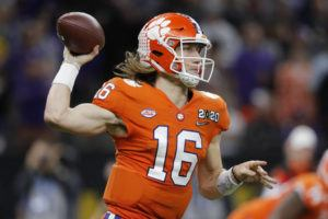 ASSOCIATED PRESS                                 Clemson quarterback Trevor Lawrence had a gofundme.com page for help with coronavirus relief shut down for fear the quarterback was committing a NCAA violation.