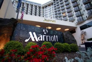 ASSOCIATED PRESS                                 Portland Marriott Downtown Waterfront, seen in April 2011, in Portland, Ore. Marriott says guests' names, loyalty account information and other personal details may have been accessed in the second major data breach to hit the company in less than two years.