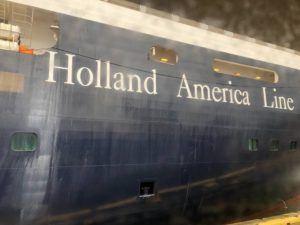 LEILA FUJIMORI / LFUJIMORI@STARADVERTISER.COM                                 The Holland America Line cruise ship Westerdam was docked at Honolulu Harbor today.