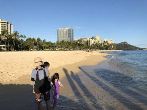 GEORGE F. LEE                                 Waikiki Beach is mostly empty of visitors, hotel workers and beach goers on Monday, but the Hawaii Tourism Authority's figures show that in the 20 days since the 14-day quarantine for arriving passengers began, 2,657 visitors have arrived in Hawaii.