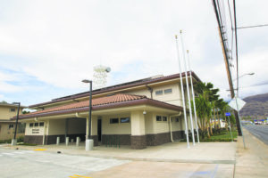 STAR-ADVERTISER / MARCH 2016                                 Waianae police substation in Waianae.