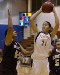 STAR-BULLETIN / 2005                                 Shawna-Lei Kuehu was named All-State player of the year three times while at Punahou.