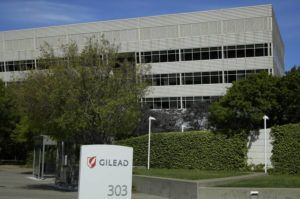 ASSOCIATED PRESS The Gilead Sciences headquarters in Foster City, Calif. The maker of a drug shown to shorten recovery time for severely ill COVID-19 patients says it will charge $2,340 for a typical treatment course for people covered by government health programs in the United States and other developed countries.