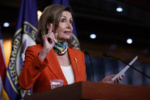 ASSOCIATED PRESS House Speaker Nancy Pelosi of Calif., speaks at a news conference on Capitol Hill in Washington on Friday.