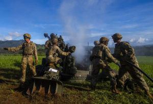 STAR-ADVERTISER / 2019                                 U.S. Army soldiers from the 2nd Battalion, 11th Field Artillery conducted a rapid artillery exercise at Schofield Barracks.