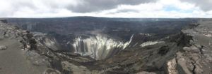 COURTESY USGS / MAY 15                                 This panorama shows the view from the south rim of the 2018 collapse at Kīlauea's summit.