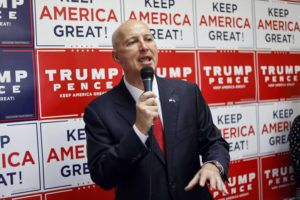 ASSOCIATED PRESS                                 Nebraska Gov. Pete Ricketts addressed Republican supporters, Aug. 20, during the opening of the Nebraska Trump Victory Office in Omaha, Neb. Ricketts will end nearly all of his state's social-distancing restrictions on Monday, even as the number of new coronavirus cases has trended upward over the last few months.