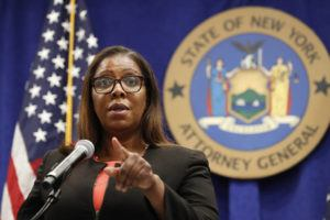 ASSOCIATED PRESS                                 New York State Attorney General Letitia James takes a question at a news conference in New York on Aug. 6. James said Saturday that she will impanel a grand jury to look into the death of Daniel Prude. Prude, 41, apparently stopped breathing as police in Rochester, N.Y. were restraining him in March 2020 and died when he was taken off life support a week later.