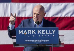 ASSOCIATED PRESS                                 Former astronaut Mark Kelly speaks during his senate campaign kickoff event in Tucson, Ariz., in 2019. If Arizona Democrat Mark Kelly wins a seat in the U.S. Senate, he could take office as early as Nov. 30, 2020. A Kelly victory would shrink the GOP's Senate majority at a crucial moment and complicate the path to confirmation for President Donald Trump's Supreme Court nominee.
