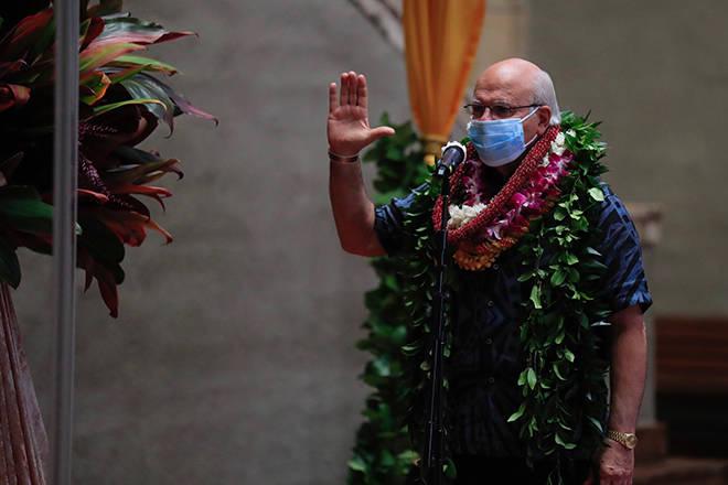 Businessman Rick Blangiardi sworn in as Honolulu's eighth mayor since statehood
