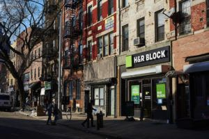 NEW YORK TIMES / 2019 An H&R Block in New York.