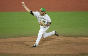 JAMM AQUINO / MARCH 7                                 A college baseball game at Les Murakami Stadium.