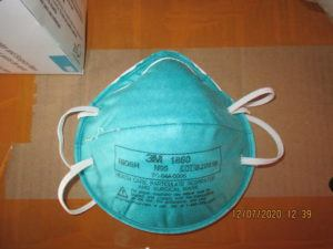 ICE VIA ASSOCIATED PRESS                                 This December 2020 image provided by U.S. Immigration and Customs Enforcement (ICE) shows a counterfeit N95 surgical mask that was seized by ICE and U.S. Customs and Border Protection. Federal agents have seized more than 10 million fake 3M brand N95 masks in recent weeks, the result of an ongoing investigation into counterfeits sold in at least five states to hospitals, medical facilities and government agencies.