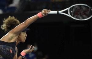 ASSOCIATED PRESS                                 Japan's Naomi Osaka serves to United States' Jennifer Brady during the women's singles final.