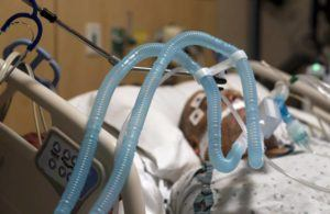 ASSOCIATED PRESS                                 Ventilator tubes were attached to a COVID-19 patient, Nov. 19, at Providence Holy Cross Medical Center in the Mission Hills section of Los Angeles. The U.S. death toll from COVID-19 has topped 500,000 — a number so staggering that a top health researcher says it is hard to imagine an American who hasn't lost a relative or doesn't know someone who died.