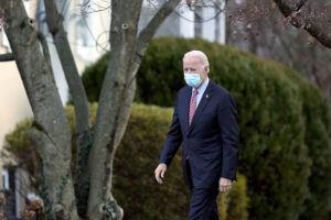 ASSOCIATED PRESS                                 President-elect Joe Biden departs St. Joseph on the Brandywine Catholic Church in Wilmington, Del.