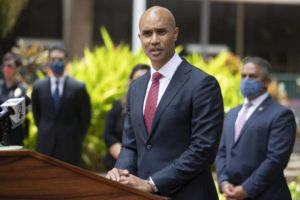 STAR-ADVERTISER / JULY 15                                 U.S. Attorney for the District of Hawaii Kenji Price holds a news conference in July 15. Price has submitted his resignation to President Joe Biden following a request from the Biden administration that nearly all U.S. attorneys step down.