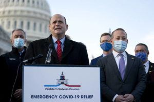 ASSOCIATED PRESS                                 Rep. Tom Reed (R-N.Y.) addresses a news conference with fellow members of the Problem Solvers Caucus outsIde the Capitol in Washington on Dec. 21.