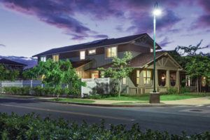 COURTESY STANFORD CARR DEVELOPMENT                                 A state affordable- housing incentive program that has produced homes, including ones at Kahoma Village in Lahaina shown here, could be altered on Maui by a contentious pending county bill.