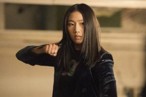 """KAILEY SCHWERMAN/THE CW VIA ASSOCIATED PRESS                                 Olivia Liang as Nicky Shen in a scene from """"Kung Fu,"""" premiering on April 7."""