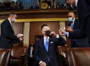 THE WASHINGTON POST VIA AP                                 President Joe Biden arrives to speak to a joint session of Congress on Wednesday.