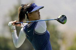 ASSOCIATED PRESS / 2019                                 Michelle Wie watches her tee shot on the 18th hole during the second round of the LPGA Tour ANA Inspiration golf tournament at Mission Hills Country Club in Rancho Mirage, Calif.