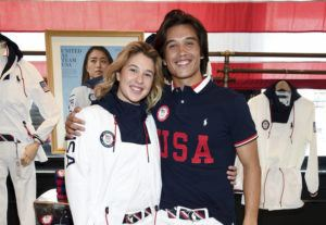 INVISION/AP                                 Skateboaders Jordyn Barratt, left, and Heimana Reynolds participate in the Team USA Tokyo Olympic closing ceremony uniform unveiling at the Ralph Lauren SoHo Store on Tuesday in New York. Ralph Lauren is an official outfitter of the 2021 U.S. Olympic Team.