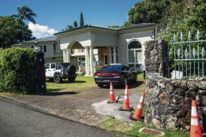CRAIG T. KOJIMA / CKOJIMA@STARADVERTISER.COM                                 Honolulu police have yet to release video from the fatal April 5 shooting of a 16-year-old boy despite taking just two days to release some footage of the April 14 killing of a 29-year-old man at 91 Coelho Way in Nuuanu.