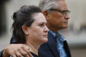 CINDY ELLEN RUSSELL / 2019                                 Katherine and Louis Kealoha walked toward Queen Street after leaving federal court.