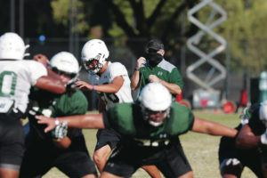 2020 September 29 SPT - Photo courtesy of UH Athletics. Head Coach Todd Graham during football practice at the University of Hawaii Manoa Campus, Tuesday, Sept. 29.