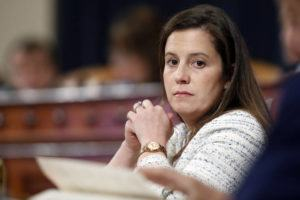 ASSOCIATED PRESS                                 Rep. Elise Stefanik, R-N.Y., listens during a House Intelligence Committee hearing on Capitol Hill in Washington on Nov. 20, 2019.