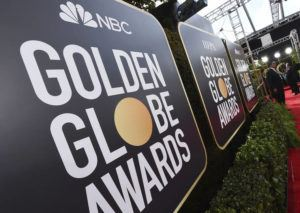 ASSOCIATED PRESS / 2020                                 Signage promoting the 77th annual Golden Globe Awards and NBC appears in Beverly Hills, Calif.