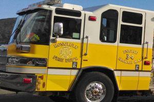 STAR-ADVERTISER / 2015                                 A Honolulu fire truck.