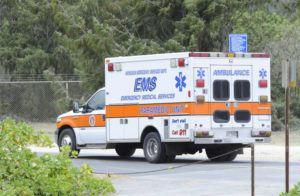 STAR-ADVERTISER / 2015                                 A city EMS ambulance.