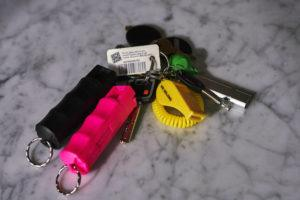 NEW YORK TIMES / MAY 7                                 Arthur Bramhandtam's key chain, which now includes a whistle and pepper spray, at the home he shares with his husband Arthur in the Hell's Kitchen neighborhood of Manhattan.