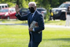 ASSOCIATED PRESS                                 President Joe Biden walks to board Marine One on the Ellipse near the White House for a trip to Delaware on June 2 in Washington.