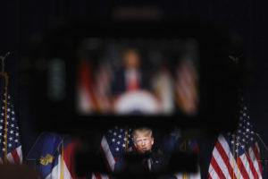 NEW YORK TIMES / JUNE 5 Former President Donald Trump speaks at the North Carolina Republican Party's state convention in Greenville.