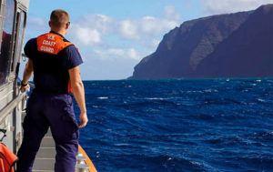 MK3 FOREST HERRING/U.S. COAST GUARD VIA AP, FILE                                 U.S. Coast Guard, Coast Guard Cutter William Hart moves toward the Na Pali Coast on the Hawaiian island of Kauai.