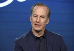 """ASSOCIATED PRESS / 2020                                 Bob Odenkirk speaks at the AMC's """"Better Call Saul"""" panel during the AMC Networks TCA 2020 Winter Press Tour in Pasadena, Calif."""