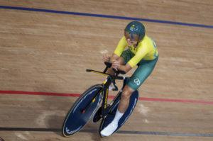 OIS VIA AP                                 Australia's Paige Greco wins the gold medal in the track cycling women's C3 3000 meter individual pursuit at the Izu Velodrome in Tokyo 2020 Paralympic Games in Tokyo.