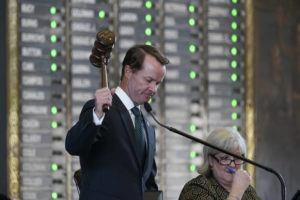 ASSOCIATED PRESS                                 Speaker of the House Dade Phelan, R-Orange, presides as the House prepares to debate voting bill SB1 today in Austin, Texas.