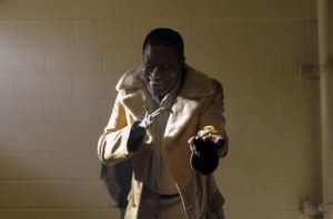 """COURTESY UNIVERSAL PICTURES                                 Michael Hargrove as Sherman Fields in a scene from """"Candyman,"""" directed by Nia DaCosta."""