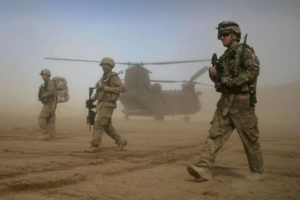ASSOCIATED PRESS / 2012                                 U.S. soldiers, part of the NATO-led International Security Assistance Force, patrol west of Kabul, Afghanistan, in 2012.