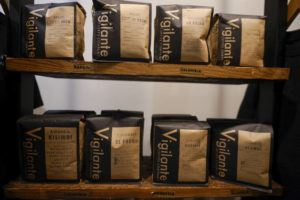 ASSOCIATED PRESS                                 Bags of coffee were on display at Vigilante Coffee, Sept. 1, in College Park, Md. A confluence of supply chain problems, drought, frost and inflation all point to the price of your cup of morning coffee going up.