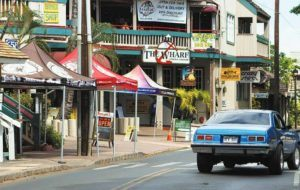 STAR-ADVERTISER                                 Front Street in Lahaina, a normally heavily trafficked area on Maui, was seen here in June 2020 with no tourists.