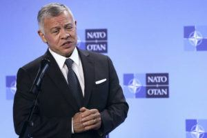ASSOCIATED PRESS                                 Jordan's King Abdullah II speaks during a media conference prior to a meeting with NATO Secretary General Jens Stoltenberg at NATO headquarters in Brussels in May. Hundreds of world leaders, powerful politicians, billionaires, celebrities, religious leaders and drug dealers have been stashing away their investments in mansions, exclusive beachfront property, yachts and other assets for the past quarter century, according to a review of nearly 12 million files obtained from 14 different firms located around the world.