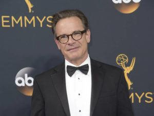 """ASSOCIATED PRESS                                 Peter Scolari arrives at the 68th Primetime Emmy Awards in Los Angeles in 2016. Scolari, a versatile character actor whose television roles included a yuppie producer on """"Newhart"""" and a closeted dad on """"Girls"""" and who was on Broadway in """"Hairspray"""" and """"Wicked,"""" died this morning in New York after fighting cancer for two years, according to Ellen Lubin Sanitsky, his longtime manager. He was 66."""