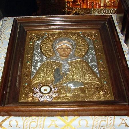 Икона Матроны Московской в Богоявленском храме
