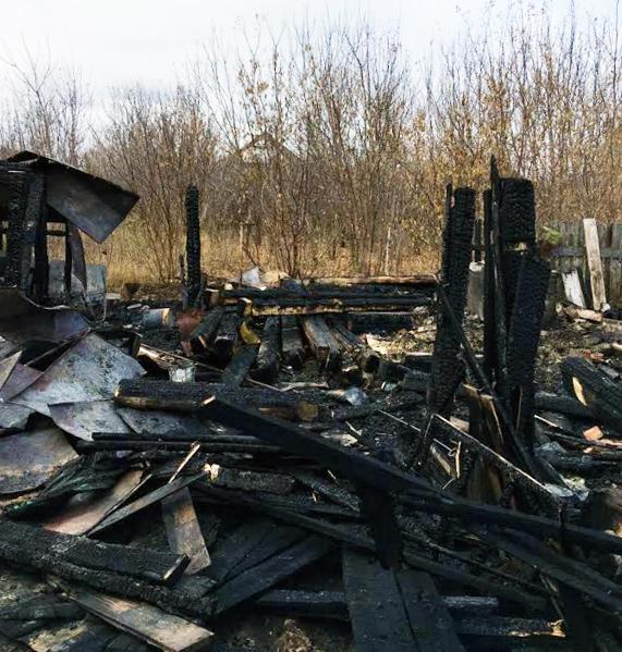 Пожар в селе Малая Кандала